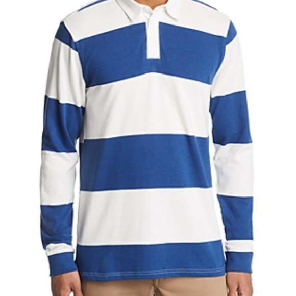 Pacific & Park Other - Striped Rugby Shirt Navy Blue Bloomingdales